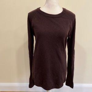 Lululemon Sweater Tunic Brown Wool Thumbholes Sz 8